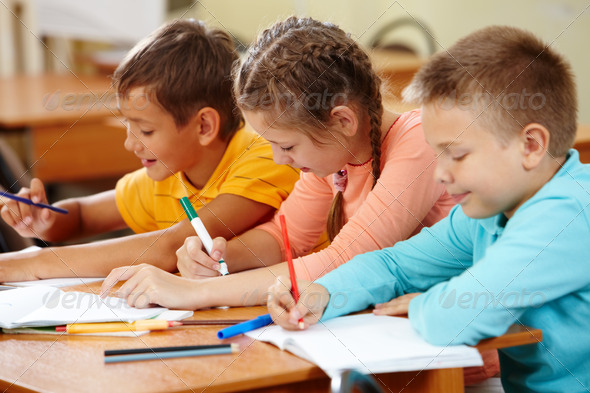 Stock Photo - PhotoDune Drawing kids 828107