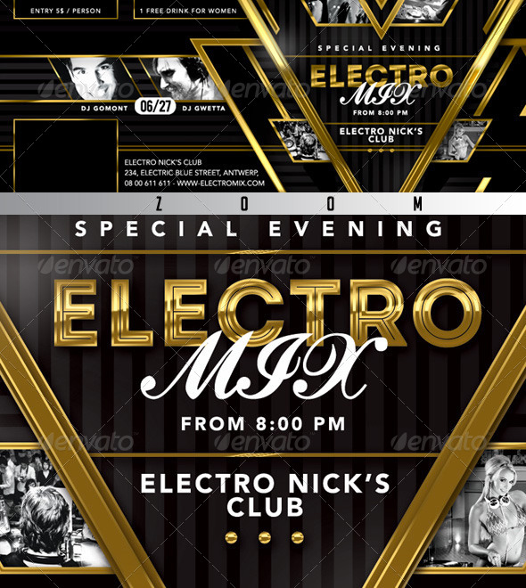 GraphicRiver FB Special Evening Electro Mix Party In Club 8095973