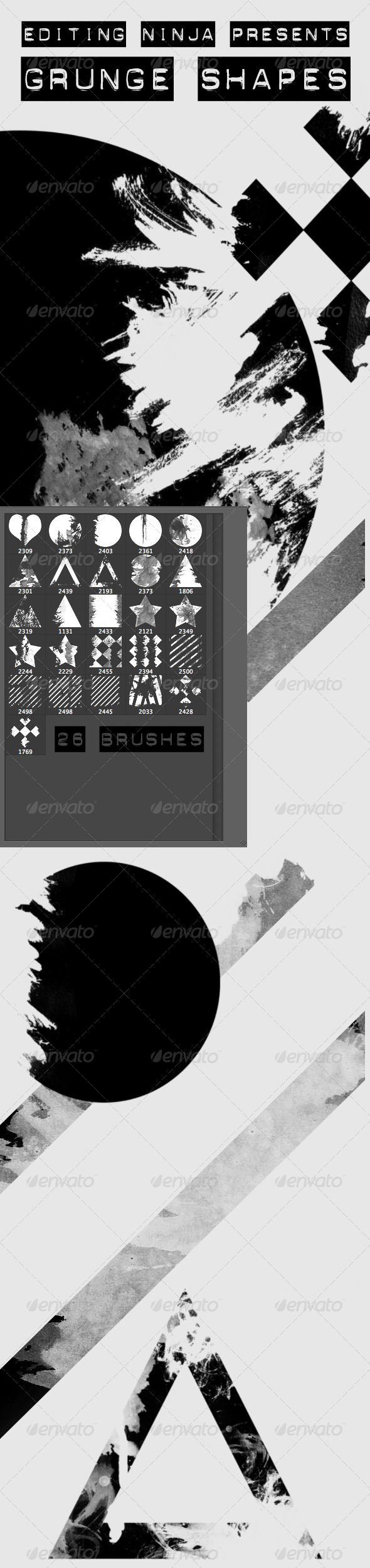 GraphicRiver Grunge Shapes 8095990