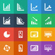 Flat Color style Business Graph icon vector set. - PhotoDune Item for Sale