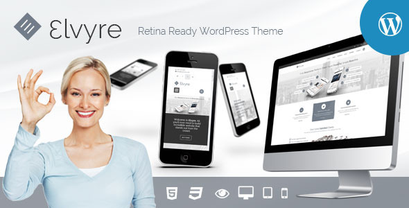 ThemeForest Elvyre Retina Ready Wordpress Theme 7966500