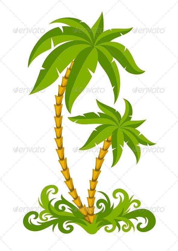 GraphicRiver Tropical Palms 8096126
