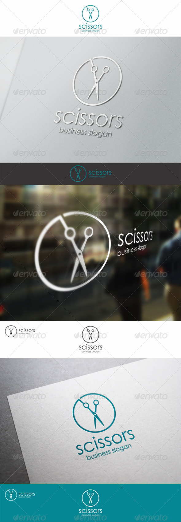 Scissors - Barber Shop Logo Template - Objects Logo Templates