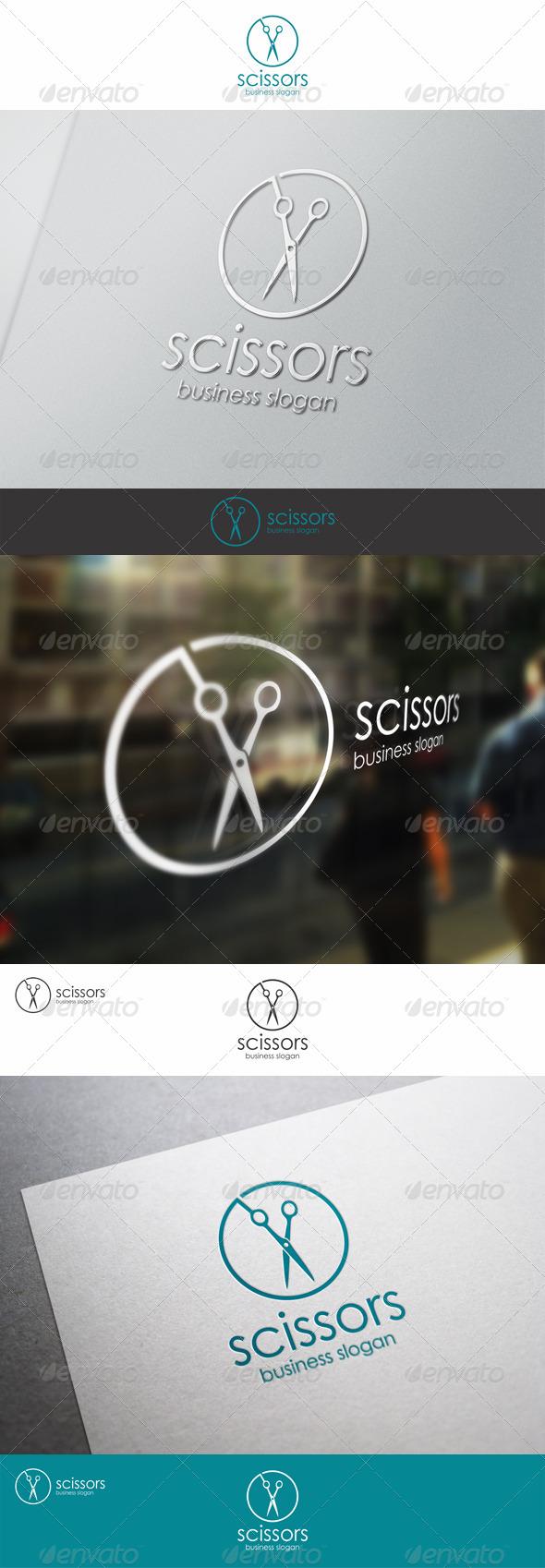 GraphicRiver Scissors Barber Shop Logo Template 8096131