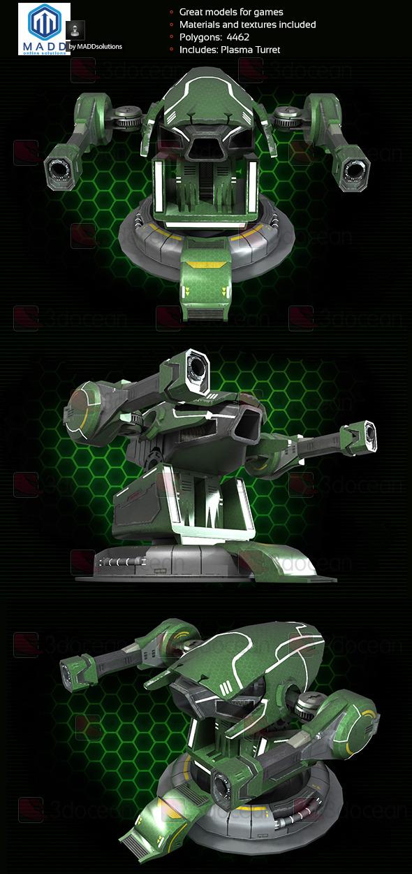 3DOcean Plasma Cannon Plasma Turret 8096316