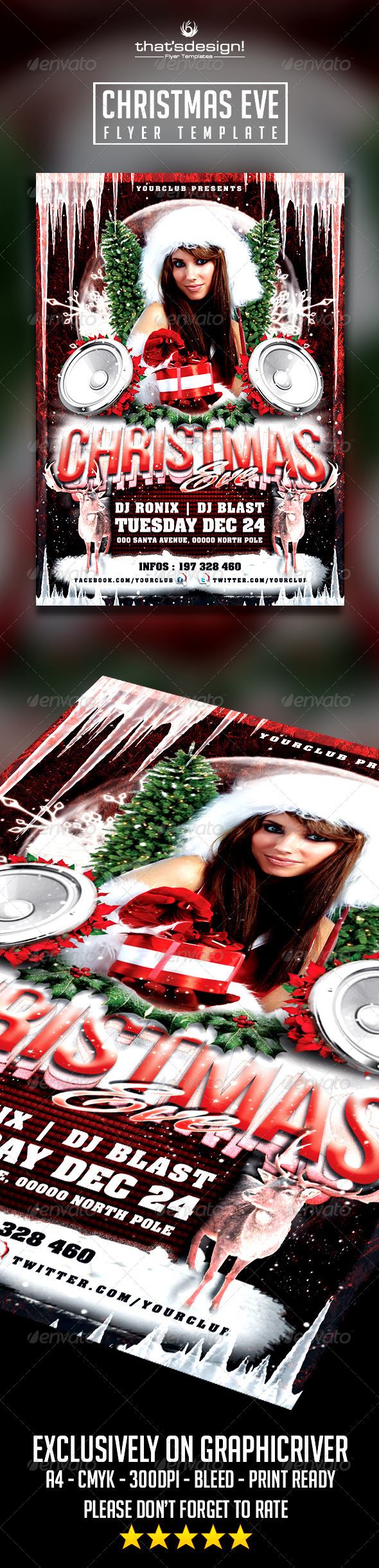 Christmas Eve Flyer Template - Holidays Events