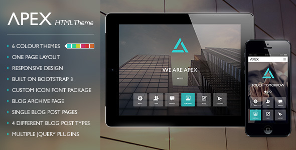 ThemeForest Apex Responsive HTML Theme 8048099