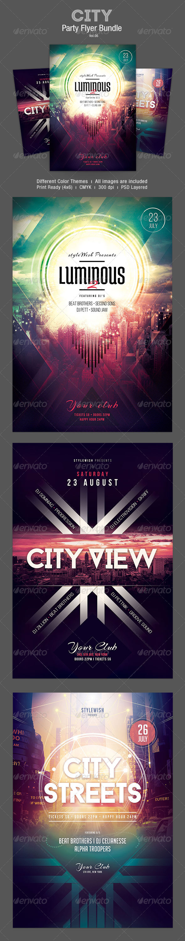 GraphicRiver City Flyer Bundle Vol.06 8096868