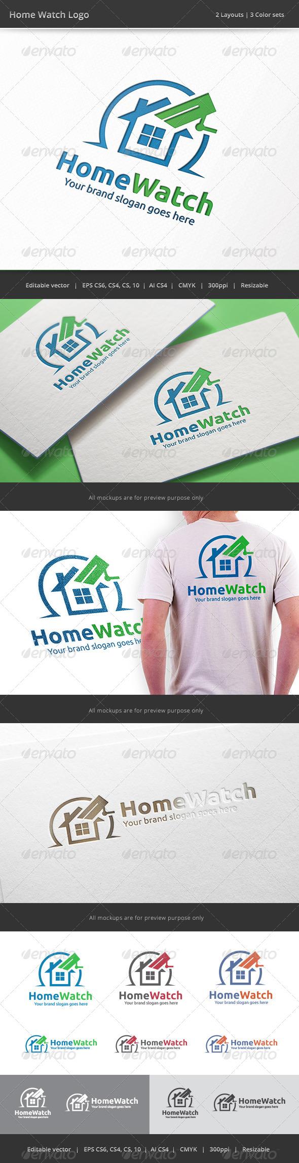 GraphicRiver Home Watch Camera Logo 8097321