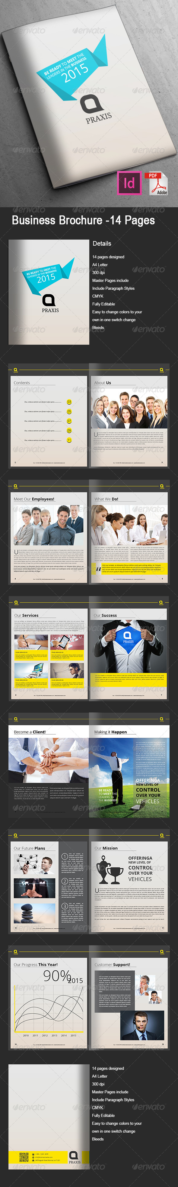 GraphicRiver Business Brochure 14 Pages 8097689