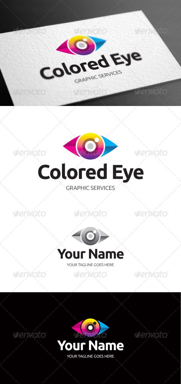 GraphicRiver Colored Eye Logo Template 8097787