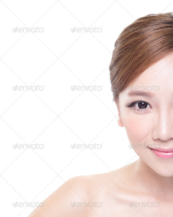 woman with beauty face and perfect skin - Stock Photo - Images