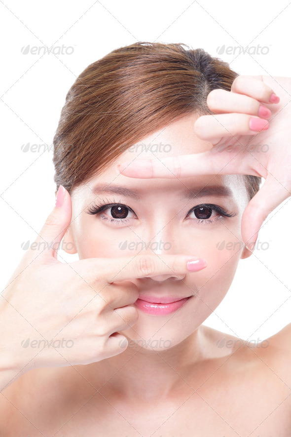 attractive skin care woman face - Stock Photo - Images
