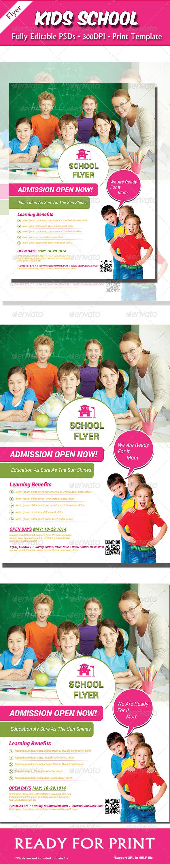 GraphicRiver Kids School Flyer 8097803