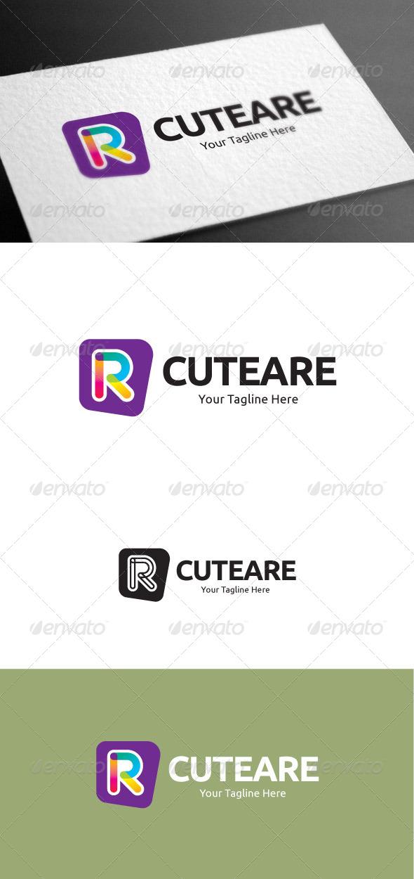 GraphicRiver Cuteare Letter R Logo Template 8097902