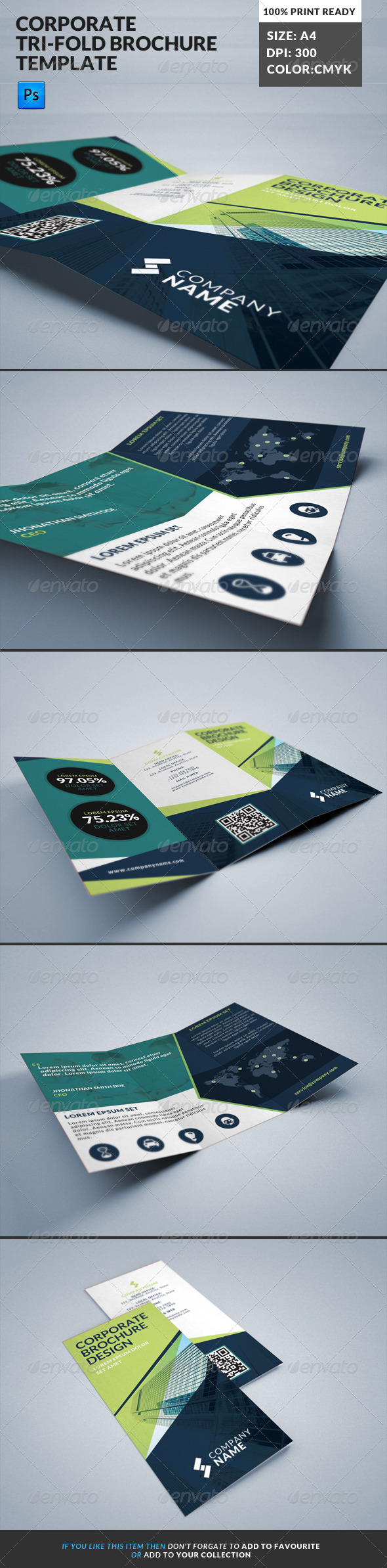 GraphicRiver Corporate Tri-Fold Brochures Template 10 8098084