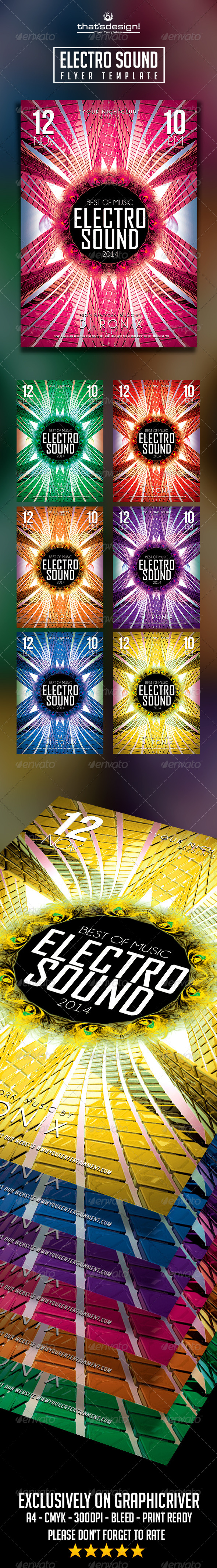 Electro Sound Flyer V2 - Print Templates