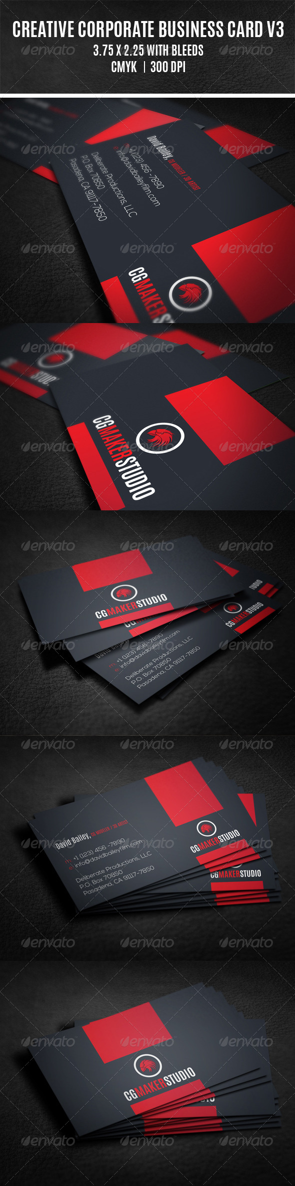 GraphicRiver Creative Corporate Business Card V3 8098098