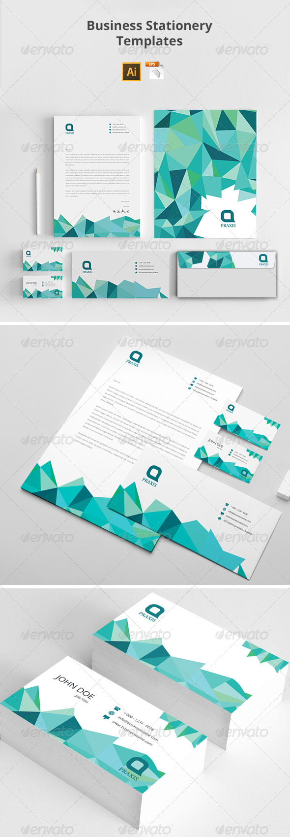 GraphicRiver Business Stationery Templates 8098115