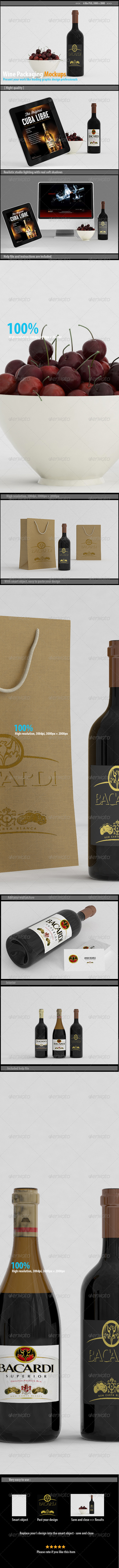 GraphicRiver Wine Packaging Mockups 8098183
