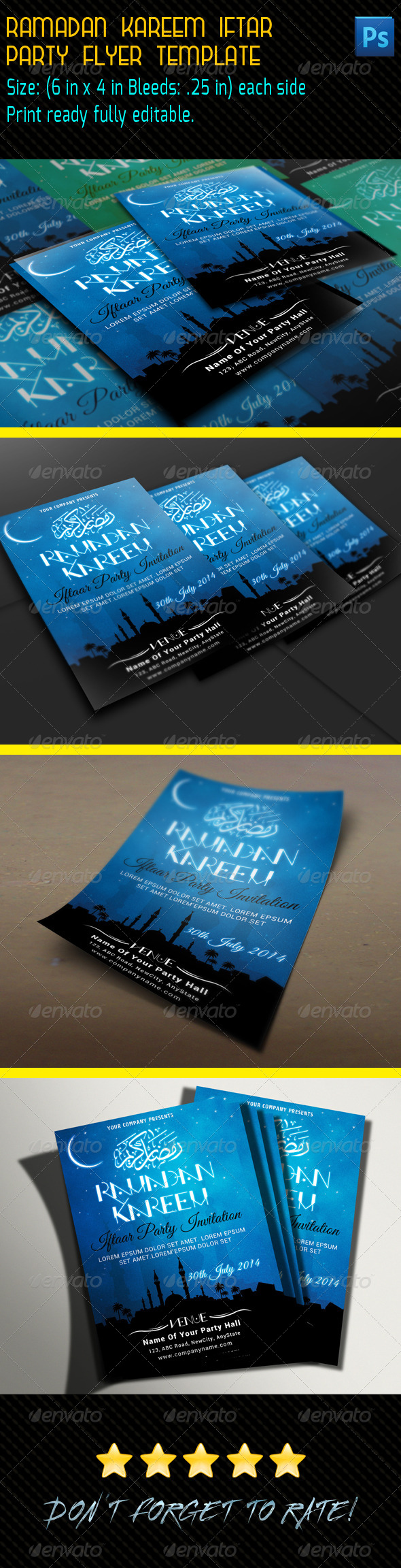 GraphicRiver Ramadan Kareem Iftar Party Flyer 8098182