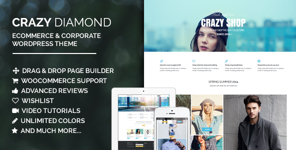 Crazy Diamond - Ecommerce & Corporate Theme - WooCommerce eCommerce