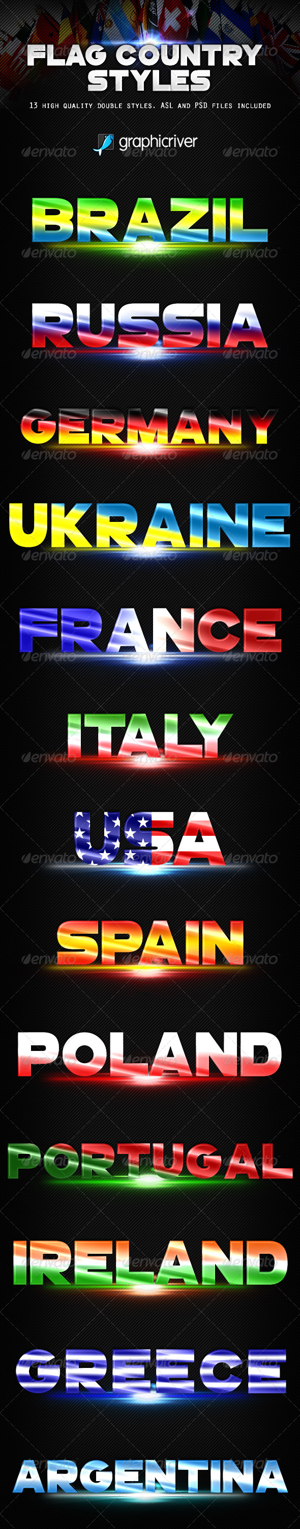 GraphicRiver Flag Country Styles 8088002