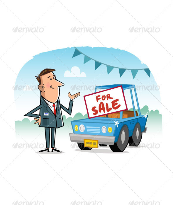 GraphicRiver Car Salesman 8098279