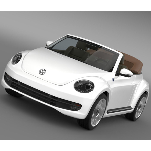 Karmann Beetle Cabrio 2014 - 3DOcean Item for Sale