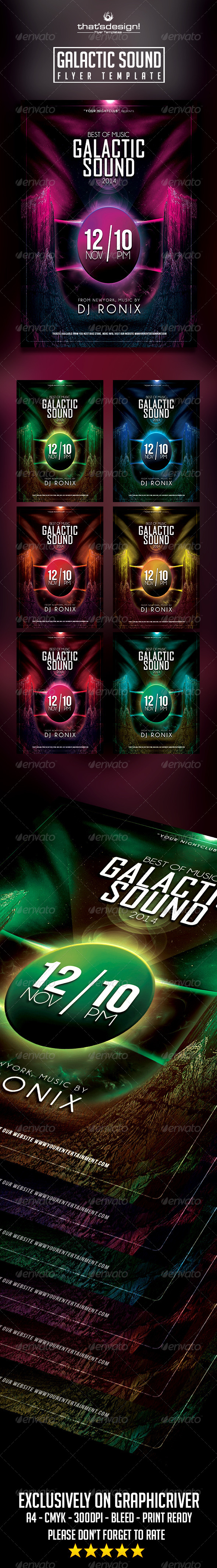 Galactic Sound Flyer V2 - Clubs & Parties Events