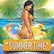Summer Time Cocktails Tropical Beach Party Flyer - GraphicRiver Item for Sale