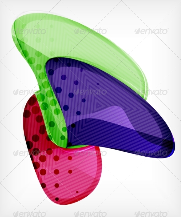 GraphicRiver Abstract Colorful Glossy Blank Round Shapes 8099040