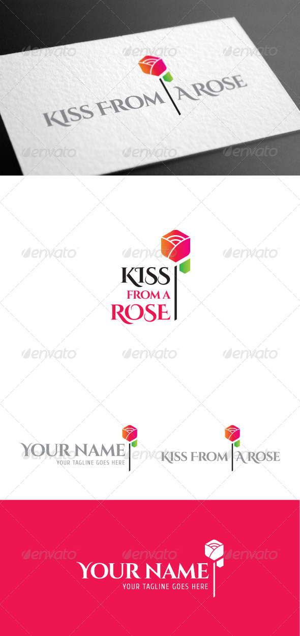 GraphicRiver Kissrose Flower Logo Template 8099291