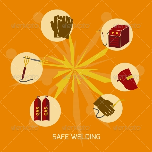 GraphicRiver Welder Icons Flat 8099356