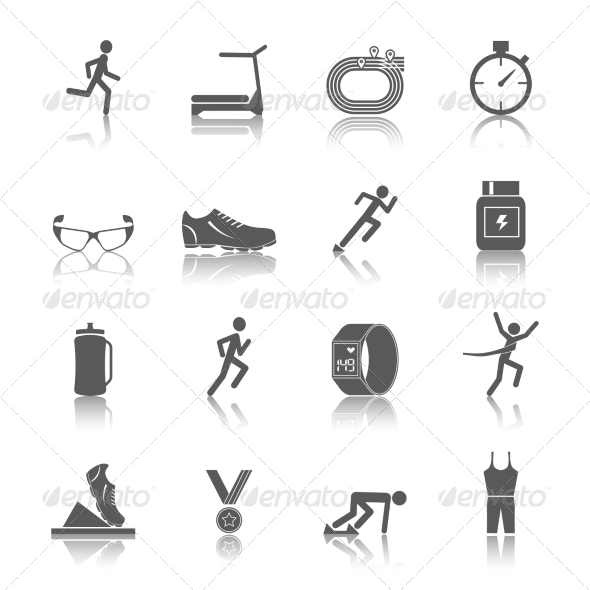 GraphicRiver Running Icons Set 8099444