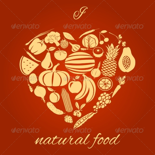 GraphicRiver Natural Food Heart 8099450