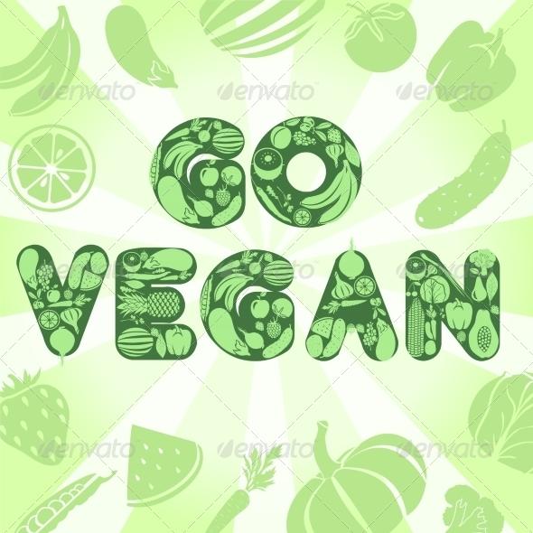 GraphicRiver Go Vegan Poster 8099520