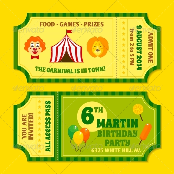 GraphicRiver Circus Tickets Template 8099525