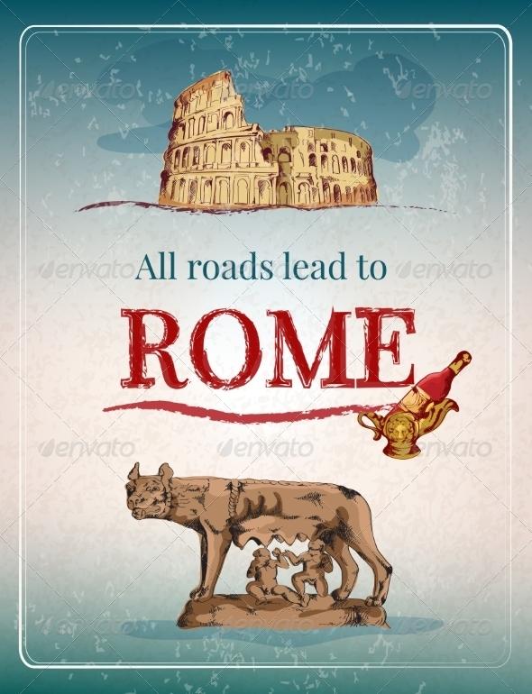GraphicRiver Rome Retro Poster 8099539