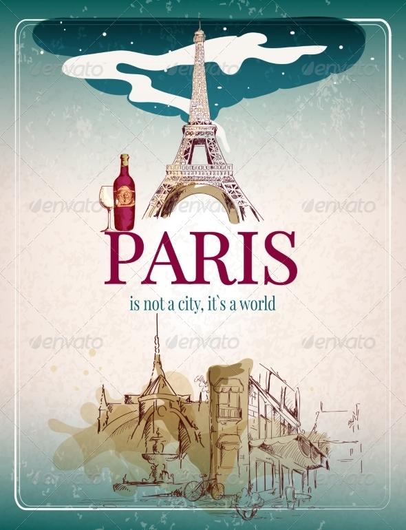GraphicRiver Paris Retro Poster 8099544