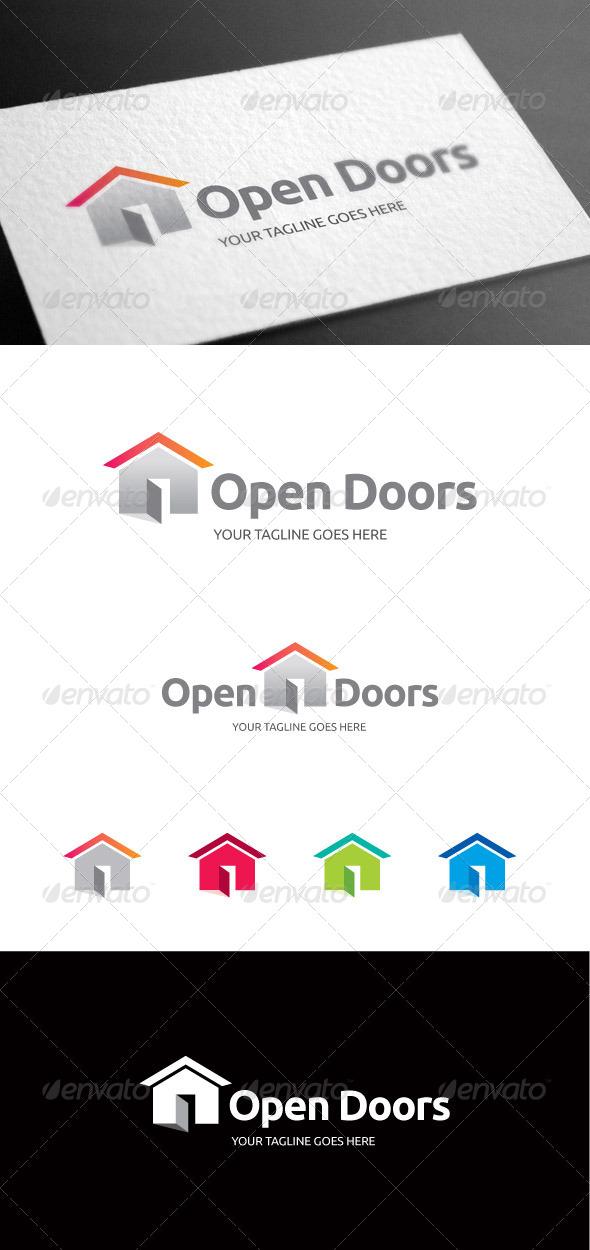 GraphicRiver Open Doors Logo Template 8099570