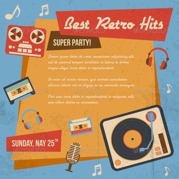 GraphicRiver Retro Music Poster 8099630
