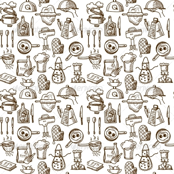 GraphicRiver Cooking Icons Seamless Pattern 8099682