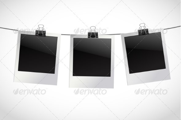 GraphicRiver Photo Frames on Rope 8099716