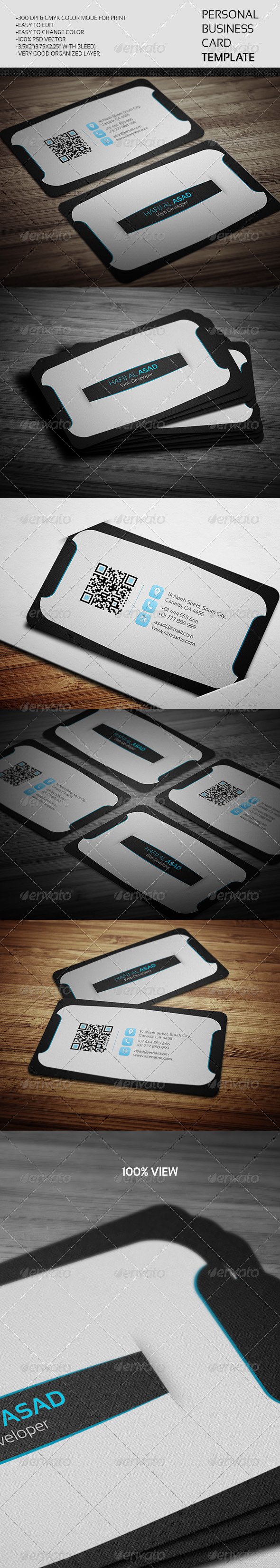 GraphicRiver Personal Business Card Template 8099726