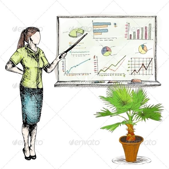 GraphicRiver Business Sketch Graphs 8099741