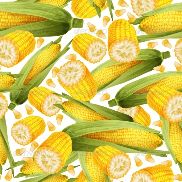 GraphicRiver Corn Seamless Pattern 8099747