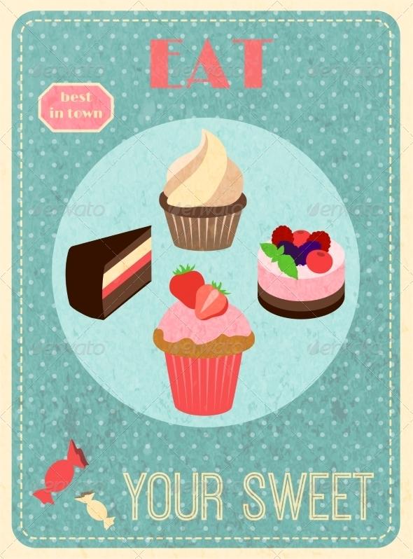 GraphicRiver Sweets Retro Poster 8099751