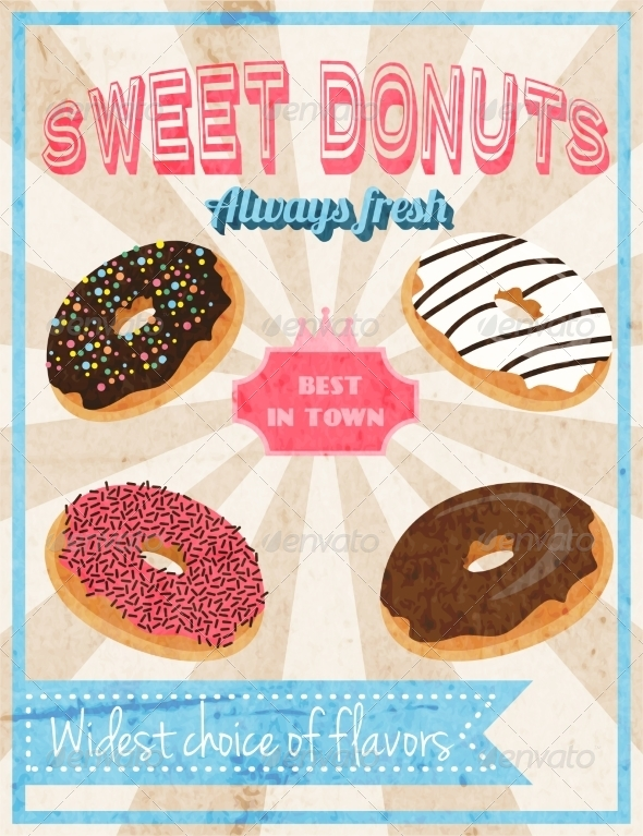 GraphicRiver Sweets Retro Poster 8099760