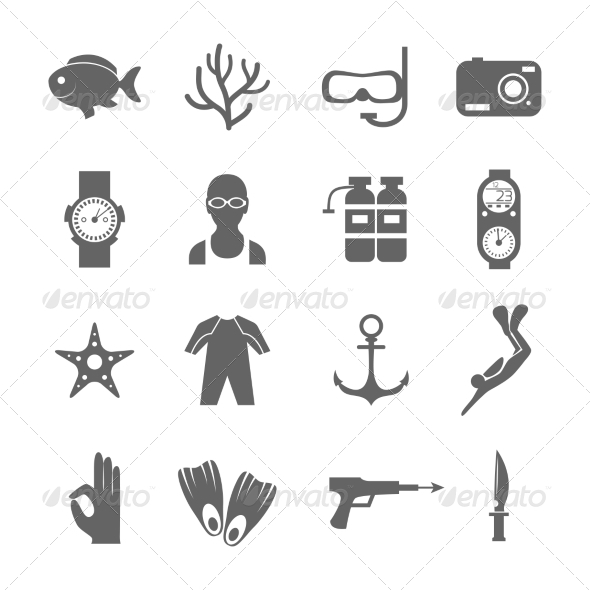 GraphicRiver Diving Icons 8099767